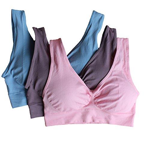 Surefit seamless padded pull on comfort sleep bra black /& white comfortable bra