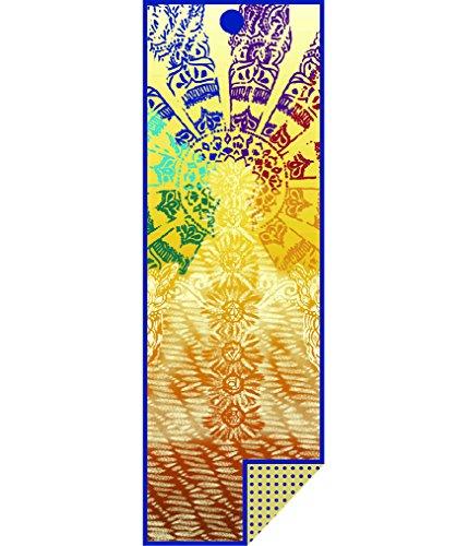 Yoga Towel Chakra: Yogitoes Yoga Mat Towel, Chakra Print, 68″