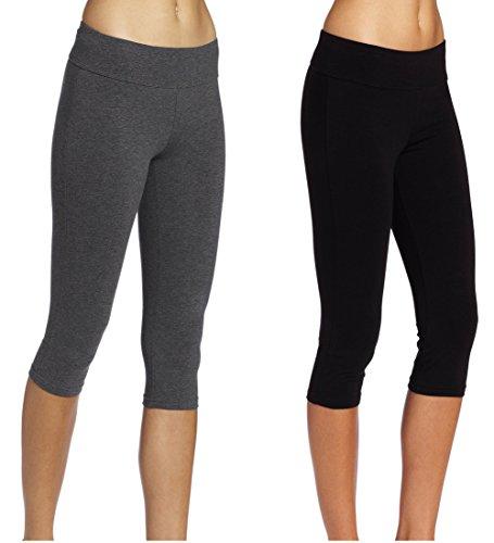 ABUSA Women s YOGA Leggings Exercise Workout Shorts Size L Rose Red ... f089aec97b75