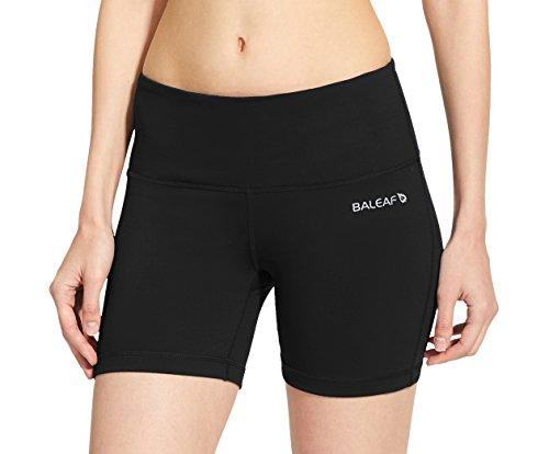57dfe32ac4c4d Baleaf Women's High Waist Yoga Shorts Tummy Control Inner Pocket for 5.5