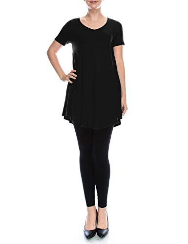 4fac8f02839 LARACE Women Short Sleeves Flare Tunic Tops for Leggings Flowy Shirt ...