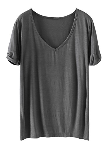 1349312a16 V neck short sleeve T-shirt, suit for summer/casual wear. Size chart length  : XS 64cm/25. 2