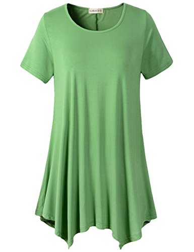 871a0ae6f56 Lanmo Womens Swing Tunic Tops Loose Fit Comfy Flattering T Shirt 2X ...