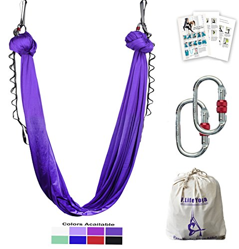 our aerial yoga hammock kit include knot tying guide   step by step instructions on making set up safe and easy to follow  how wide should i to hang the     aerial yoga hammock 5 5 yards include daisy chain carabiner and      rh   foldbold