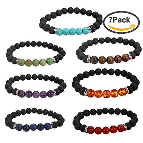 gift beads stretch energy lover volcano natural bracelet jewelry yoga stone item wukaka bracelets pcs men