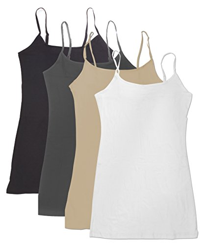c63759a27e0e74 A adjustable spaghetti straps b camisole tank top is flatter and perfect  for layering c No shelf bra d Blended with Spandex for comfort and stretch  e Sexy ...