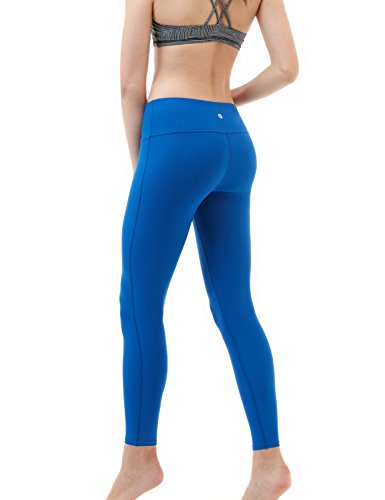 TSLA TM-FYP51-BLK/_Small Yoga Pants Mid-Waist Leggings w Hidden Pocket FYP51
