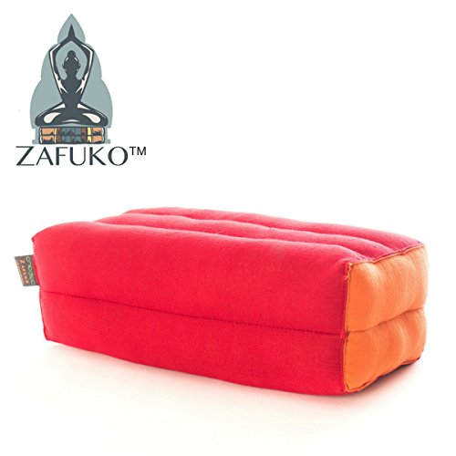 Meditation Bolster Zafuko Yoga Prop 100/% Organic Kapok Fiber Filling Block Small Block Zafu Floor Pillow Kundalini and Pilates Cushion