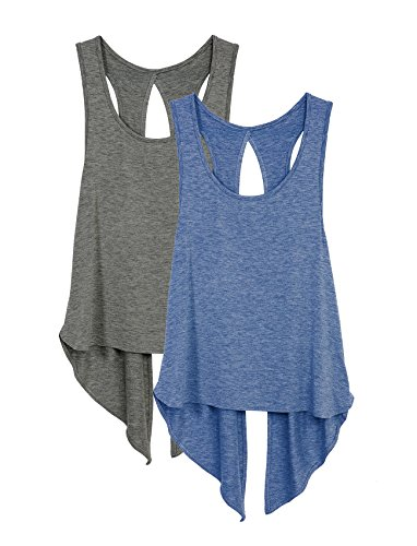 d8cd8a4190909 Heathered workout running yoga fitness tank top. Recommend matching sports  bra  https   www. Amazon.