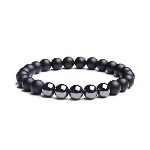 Sea Turtle Steel Black Onyx Color Bead Anklet or Bracelet Beautiful 26 cm.Handmade for Women Teens and Girls