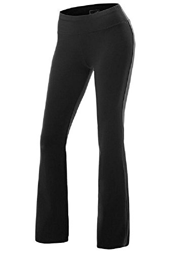 17c6035105dae Please refer to left size chart before placing order. Item: sorrica womens  casual cotton high waist boot-Leg Everyday Yoga Pants ...