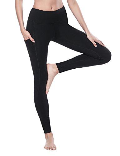 65f99eb814476 ALONG FIT Yoga Pants Running Leggings for Women Pocket Leggings 4 Way  Stretch Ultra Soft Lightweight