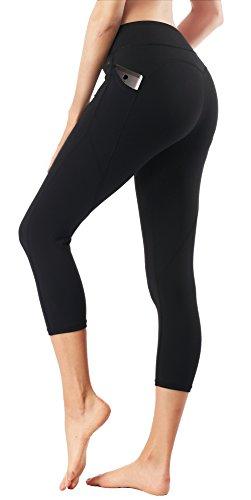 b99b7ab9da5181 Dragon Fit Pockets Yoga Capri Workout Pants Tummy Control 4 Way Stretch  Compression Running Yoga Capri Leggings