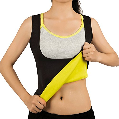 b03c74bb31 Hot Sweat Vest Neoprene Sauna Vest for women Weight Loss Tummy Fat Burner  Slimming Shapewear Hot Thermo Body Shaper Sweat Tank Top No Zip, Black