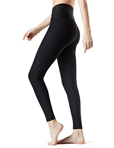 d6dd8eda9d TM-FYP54-BLK_Large Tesla Yoga Pants High-Waist Leggings w Side Pockets FYP54