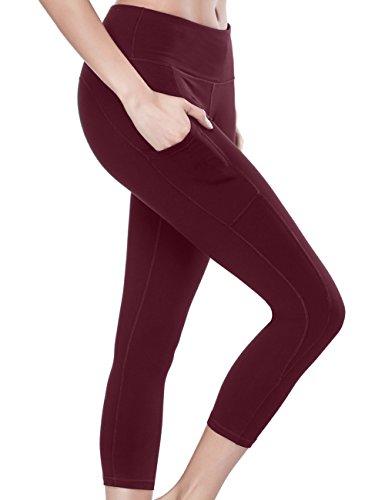 cca8331cacf38 ALONG FIT Yoga Pants Yoga Leggings Capri Pants Mid-Waist with Out Pocket  Tummy Workout Yoga Pants