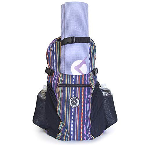 844b39551b57b Aurorae Yoga Multi Purpose Backpack. Mat Sold Separately Purple Stripe