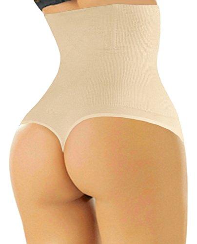 4cefd3614dc26 ShaperQueen 102 Thong - Women Waist Cincher Girdle Tummy Slimmer Sexy Thong  Panty Shapewear XL