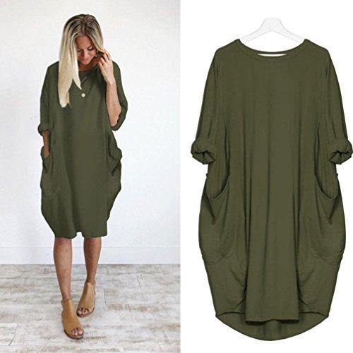 95abd2a943 Franterd Womens Pocket Loose Dress
