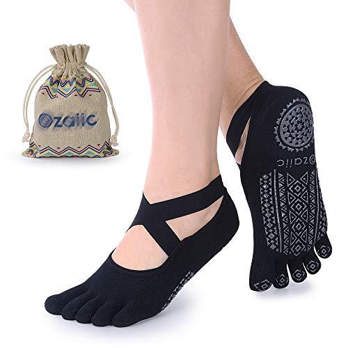 Yoga Socks for Women Non-Slip Grips & Straps, Ideal for Pilates