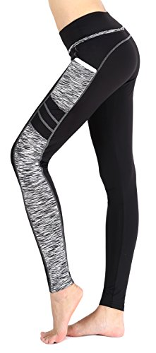 dd8ea0531ea32 Side Pocket for convenience. Elastic waistband for a snug, comfortable fit.  Ankle length leggings. Perfect for yoga, Running, Workout, Skating or  everyday ...
