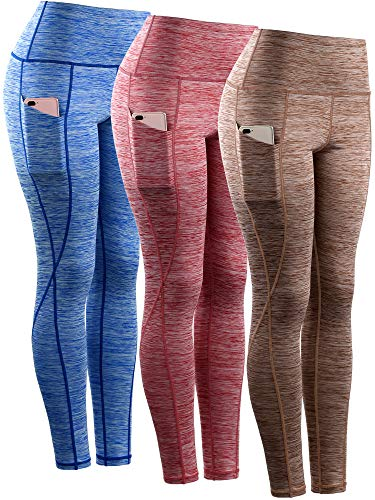 Neleus Womens High Waist Workout Running Yoga Compression Shorts with Pocket,Tummy Control