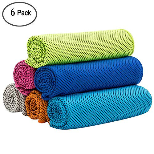 Cooling Towel Instant Cool Neck Fitness Sports Yoga Evaporative Dry Absorbent Gy