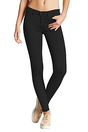 4965933e8ec1c5 HyBrid & Company Womens Super Stretch Comfy Skinny Pants P44876SK Black  Medium