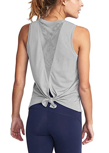Move With You Womens Yoga Tops Activewear Workout Back Mesh Shirts Racerback Sports Cute Tank Tops