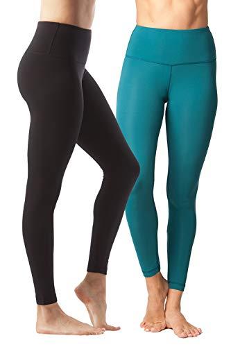 798f2d0c31 2 Pack – Black and Everglade – Yogalicious High Waist Ultra Soft  Lightweight Leggings – High Rise Yoga Pants – XS