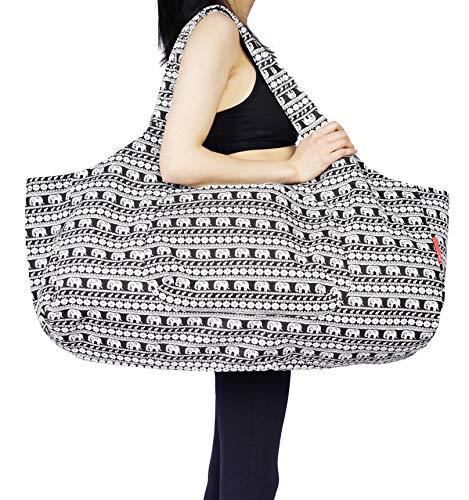 Yoga Pilates Aozora Mat Bag W// Pocket /& Zipper Elephant Fitness Exercise