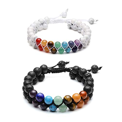 Men/'s Women/'s Black Strong Magnetic Therapy Hematite Beads Chakra Necklace FZ