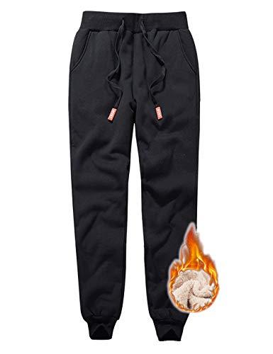 Gihuo Mens Sherpa Lined Active Sweatpants Warm Jogger Pants