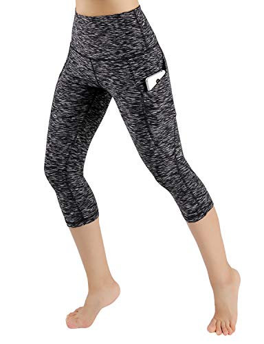 Custers Night High Waist Out Pocket Yoga Pants Tummy Control Workout Running 4 Way Stretch Yoga Leggings