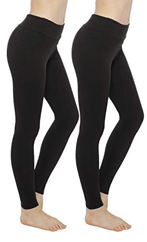One Size /& Plus Size Lashapear Womens Fleece Lined Leggings High Waist Full Length Warm Tights 3 Pack
