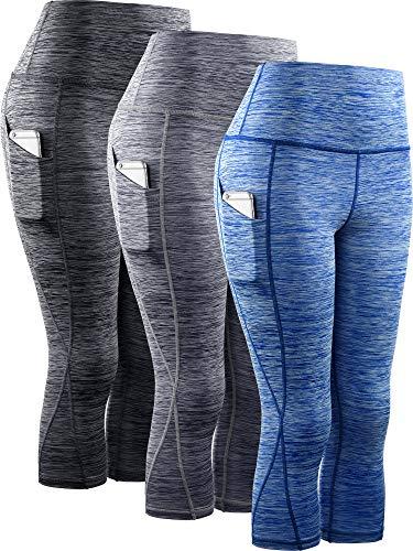 ABUSA Womens YOGA Leggings Exercise Workout Shorts