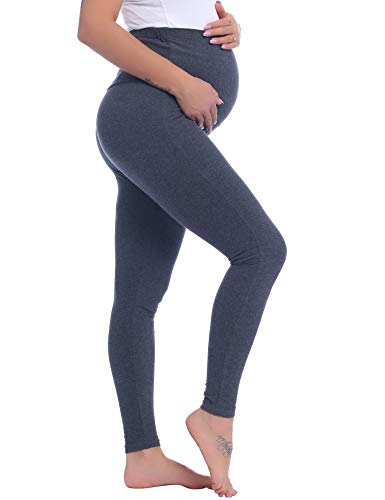 Love2Mi Womens Long Maternity Leggings Pregnant Leggings Comfortable Stretch Trousers