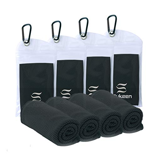 40x 12 U-pick 4 Packs Cooling Towel Ice Towel,Microfiber Towel,Soft Breathable Chilly Towel for Yoga,Sport,Gym,Workout,Camping,Fitness,Running,Workout/&More Activities